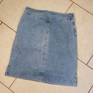 Lauren Jeans Co Denim Skirt Size 4 Ralph Lauren